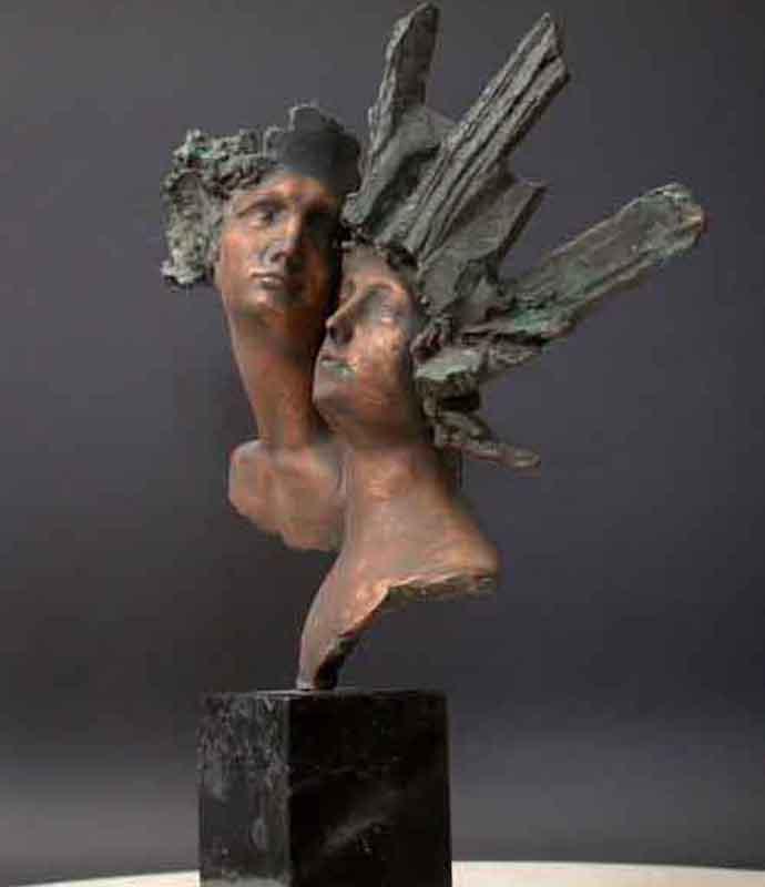 bronze brust freedom skulptur mit marmor basis maske m nnlich weiblich ebay. Black Bedroom Furniture Sets. Home Design Ideas