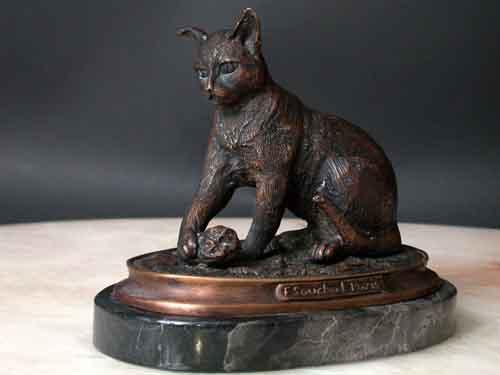 Image 0 of Bronze Cat Sculpture