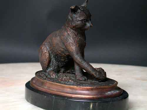 Image 2 of Bronze Cat Sculpture