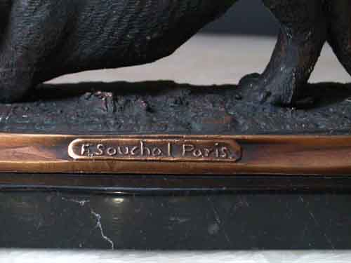 Image 1 of Bronze Cat Sculpture