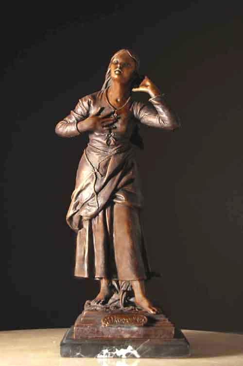 Image 0 of Joan of Arc Bronze Statue Catholic Saint