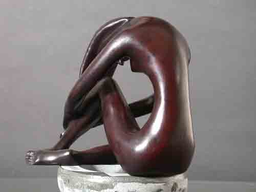 Image 1 of Meditation Female Abstract Resin Sculpture