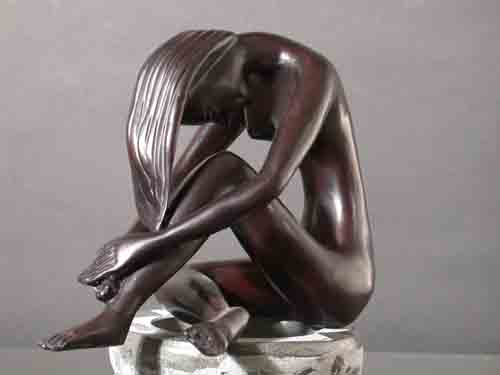 Image 2 of Meditation Female Abstract Resin Sculpture