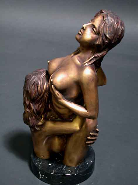 Image 1 of Female Lovers Bronze Sculpture