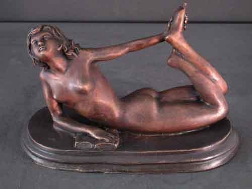 Bronze Female Sculpture Reading Contemporary Art