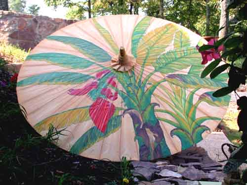 Image 0 of Umbrella Lacquered Rayon Bamboo Frame