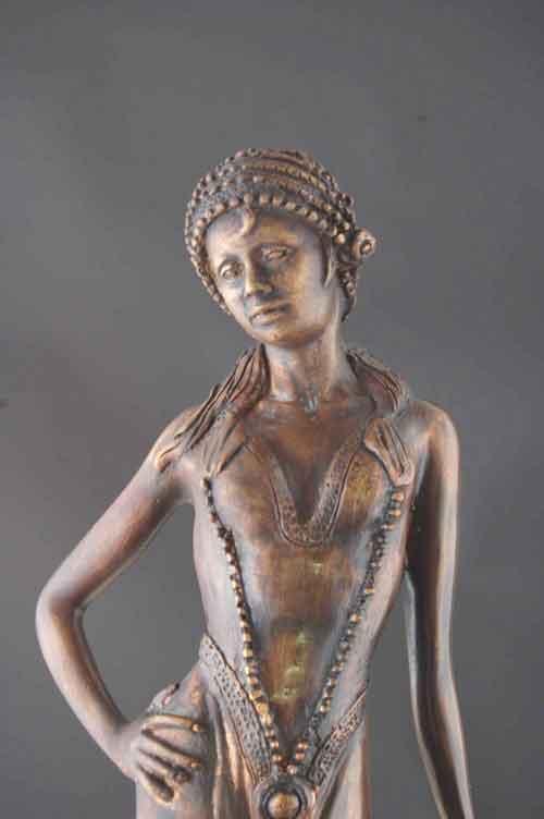 11 classical bronze modern art sculpture a blindfolded