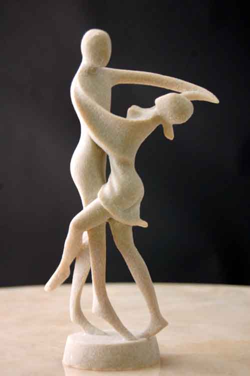 Tango Dancers Male Female Silica Resin Sculpture Art #2