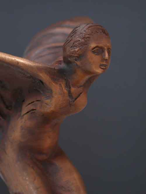 Image 1 of Bronze Spirit of Ecstasy Sculpture (Rolls Royce Ornament)